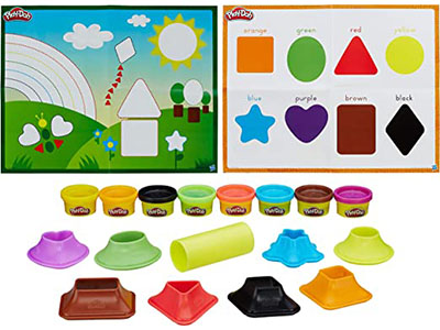 PLAY-DOH SHAPE AND LEARN SHAPES AND COLOURS