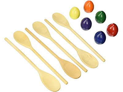 Rainbow Egg and Spoon Game